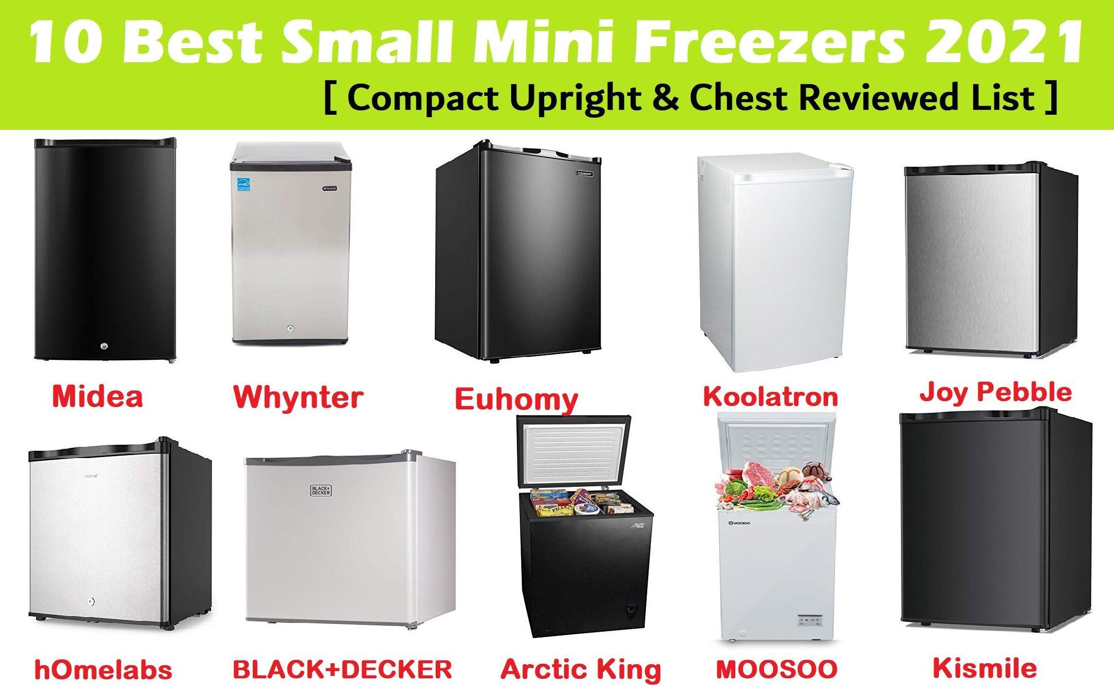 10 Best Small Mini Freezer 2020 Review & Comparison- Compact Chests & Uprights - Midea vs Whynter vs Euhomy vs hOmelabs vs BLACK+DECKER vs Koolatron vs Danby