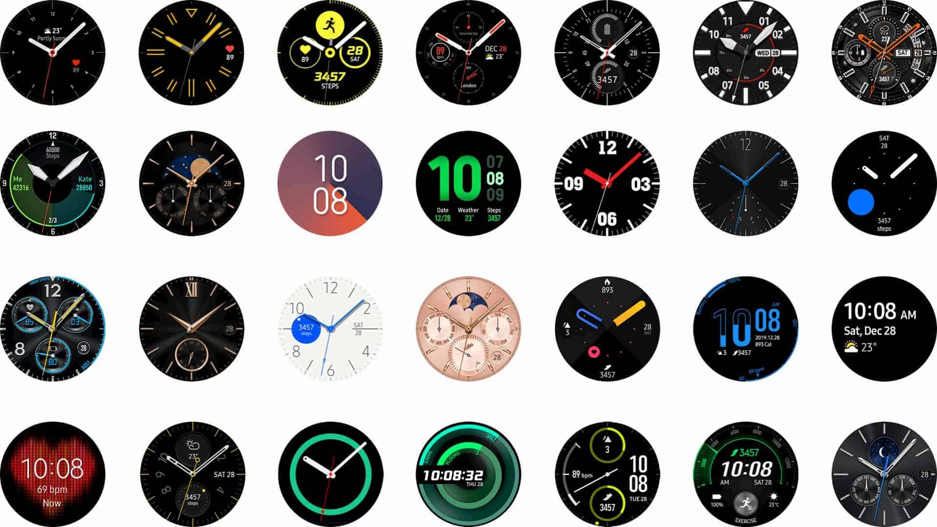 Watch UI Face Designs: Samsung Galaxy Watch 3 Reviews 2020