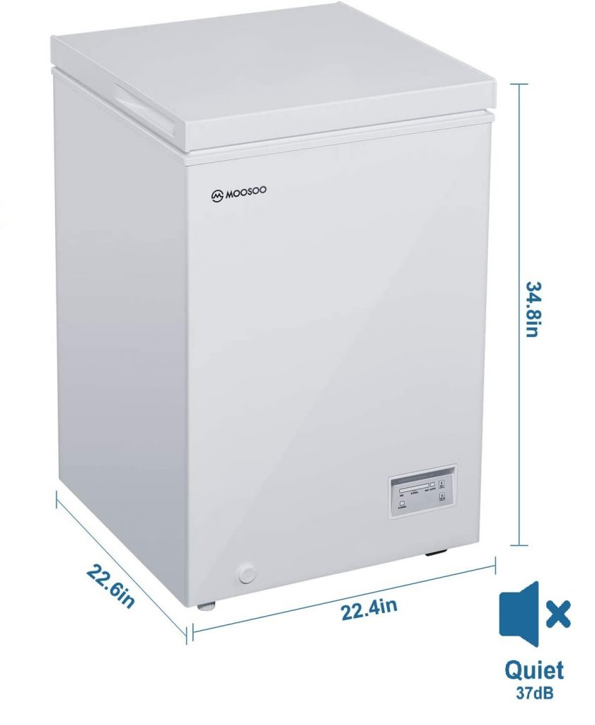 Moosoo Chest Freezer Review 2020  [ 3.5 Cu Ft, 5.0 Cu Ft and 7.0 Cu. Ft ]