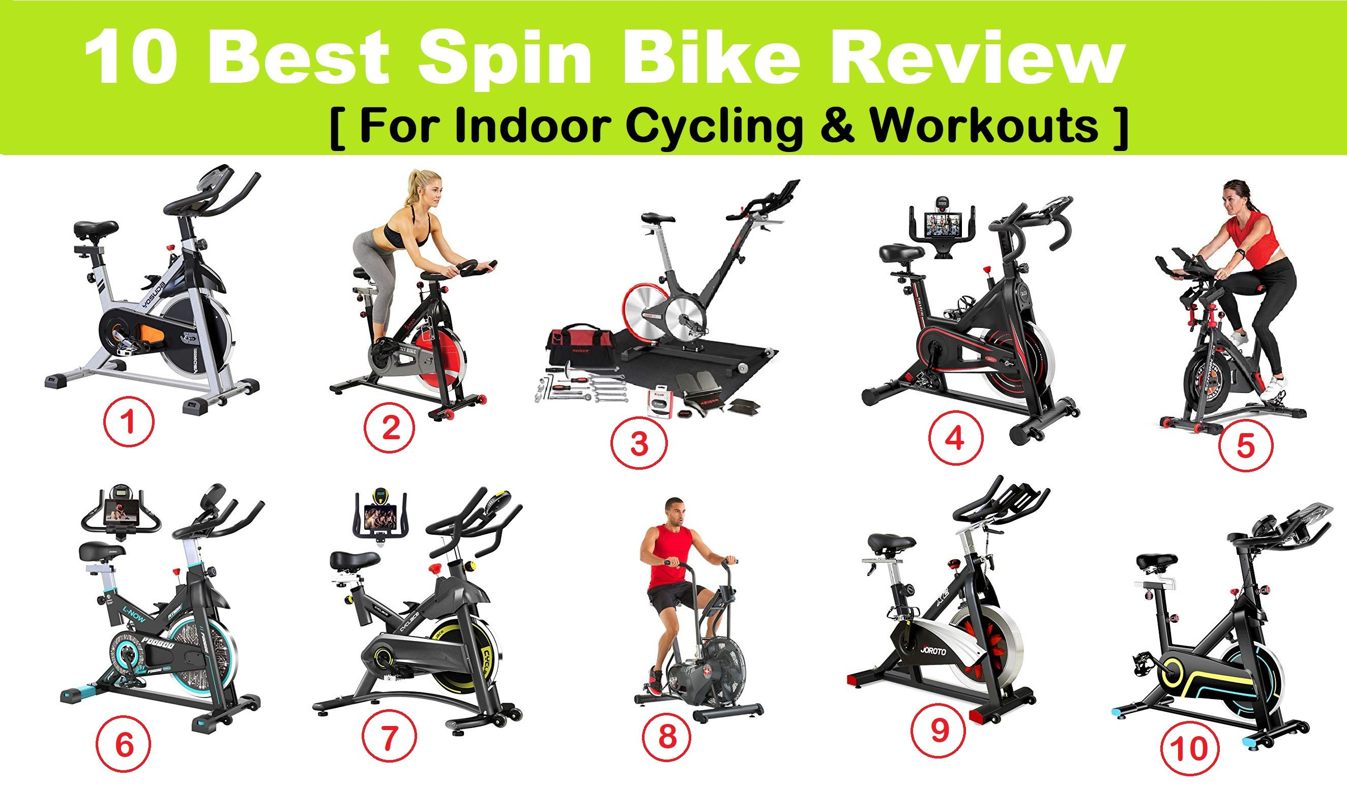 10 Best Spin Bike Review 2021 for Indoor Cycling & Workouts in Any Budget ( under $500, $1000, $2000) : YOSUDA vs Sunny Health vs Keiser M3 vs DMASUN vs pooboo vs Cyclace vs Schwinn vs JOROTO
